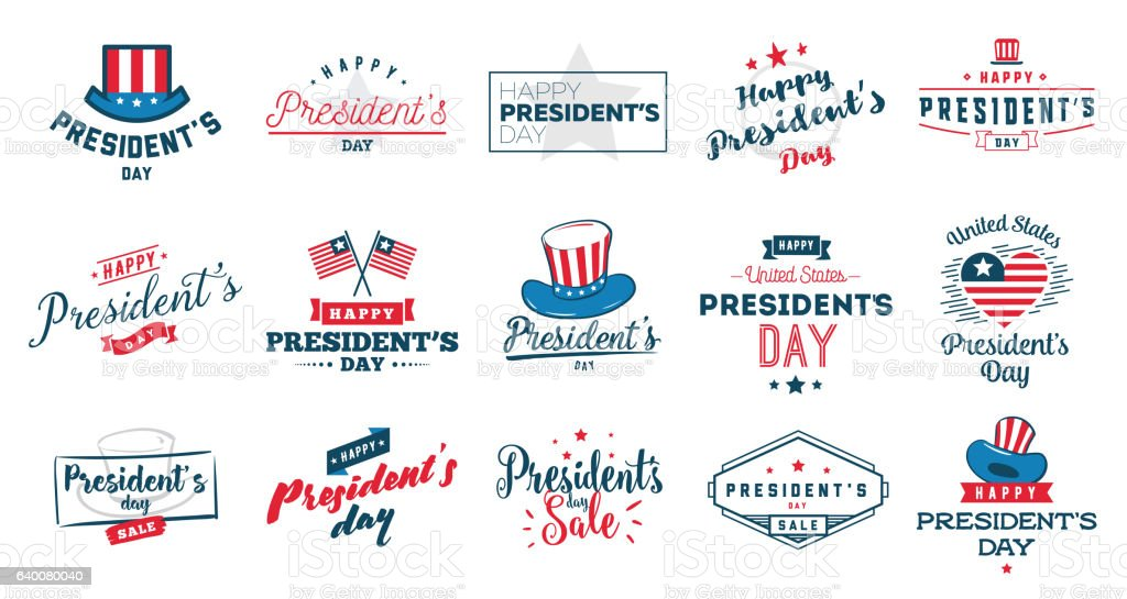 Presidents day vector typography. vector art illustration