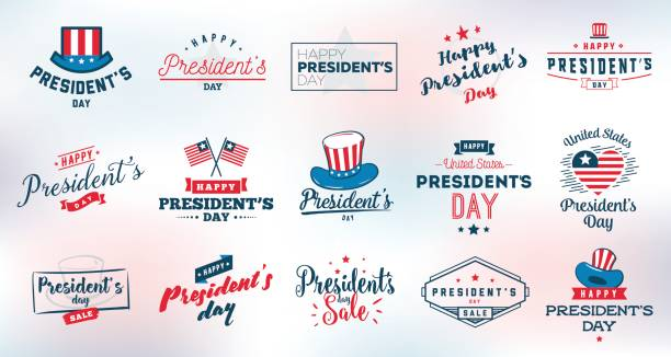 presidents day vector typography. - presidents day stock illustrations, clip art, cartoons, & icons