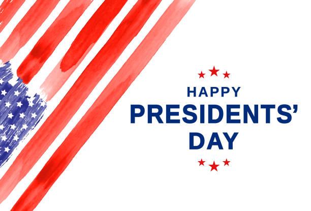 Presidents Day. Watercolor USA flag. Vector Presidents Day. Watercolor USA flag. Vector illustration. EPS10 us president stock illustrations