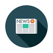 istock Press Release Flat Design SEO Icon 969892986