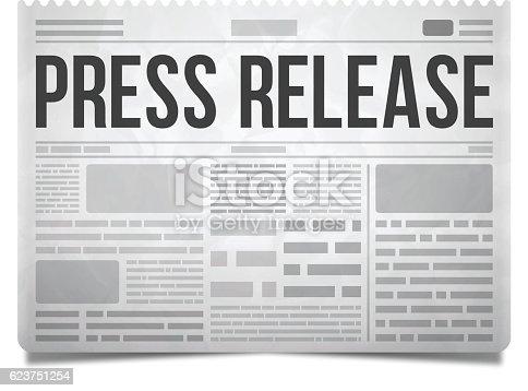 istock Press Release Newspaper 623751254