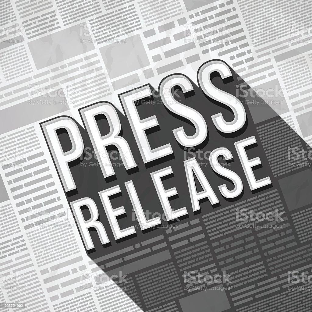 Press Release Newspaper – Vektorgrafik
