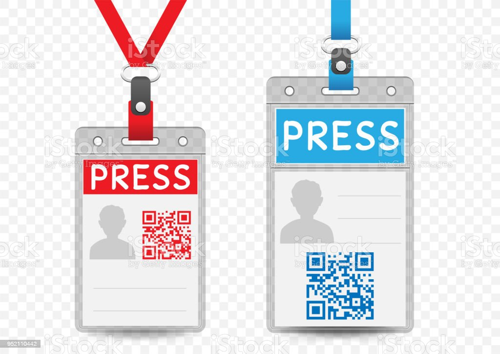 press vertical badge template stock vector art more images of