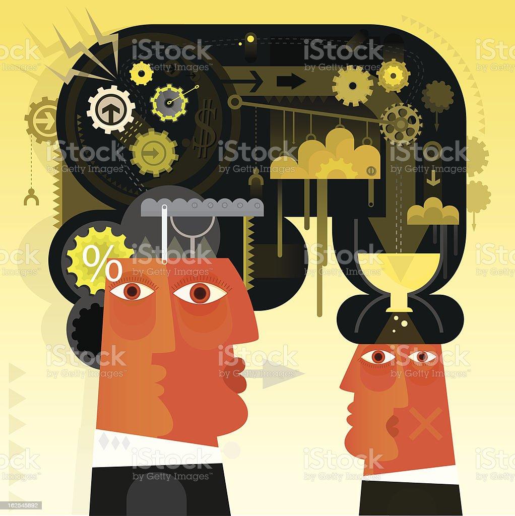 Pressing vector art illustration