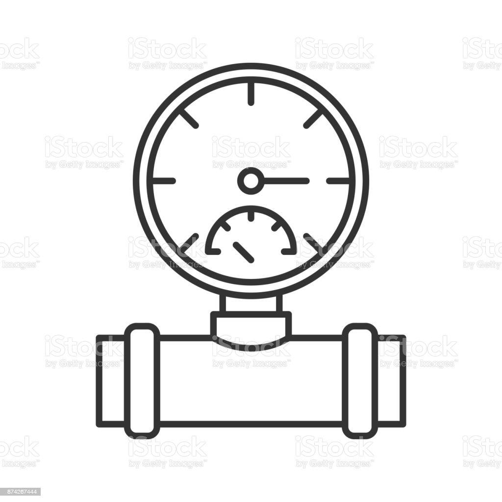 Pressure gauge icon vector art illustration