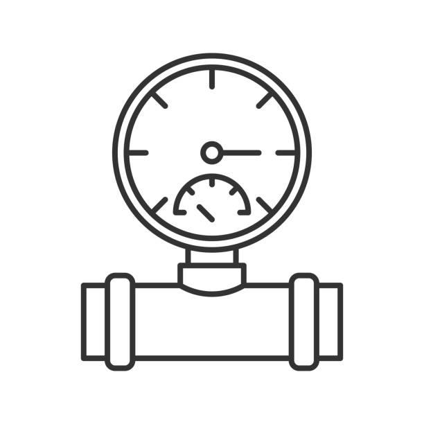 bildbanksillustrationer, clip art samt tecknat material och ikoner med manometer-ikonen - barometer