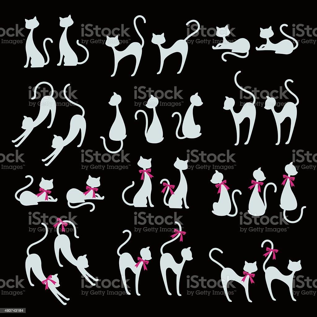 Pretty cat illustration vector art illustration