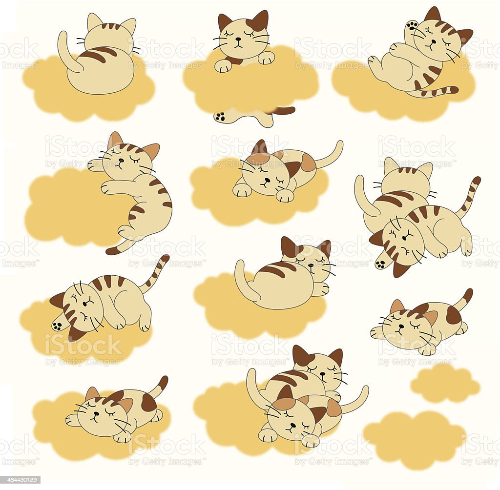 pretty cat royalty-free stock vector art