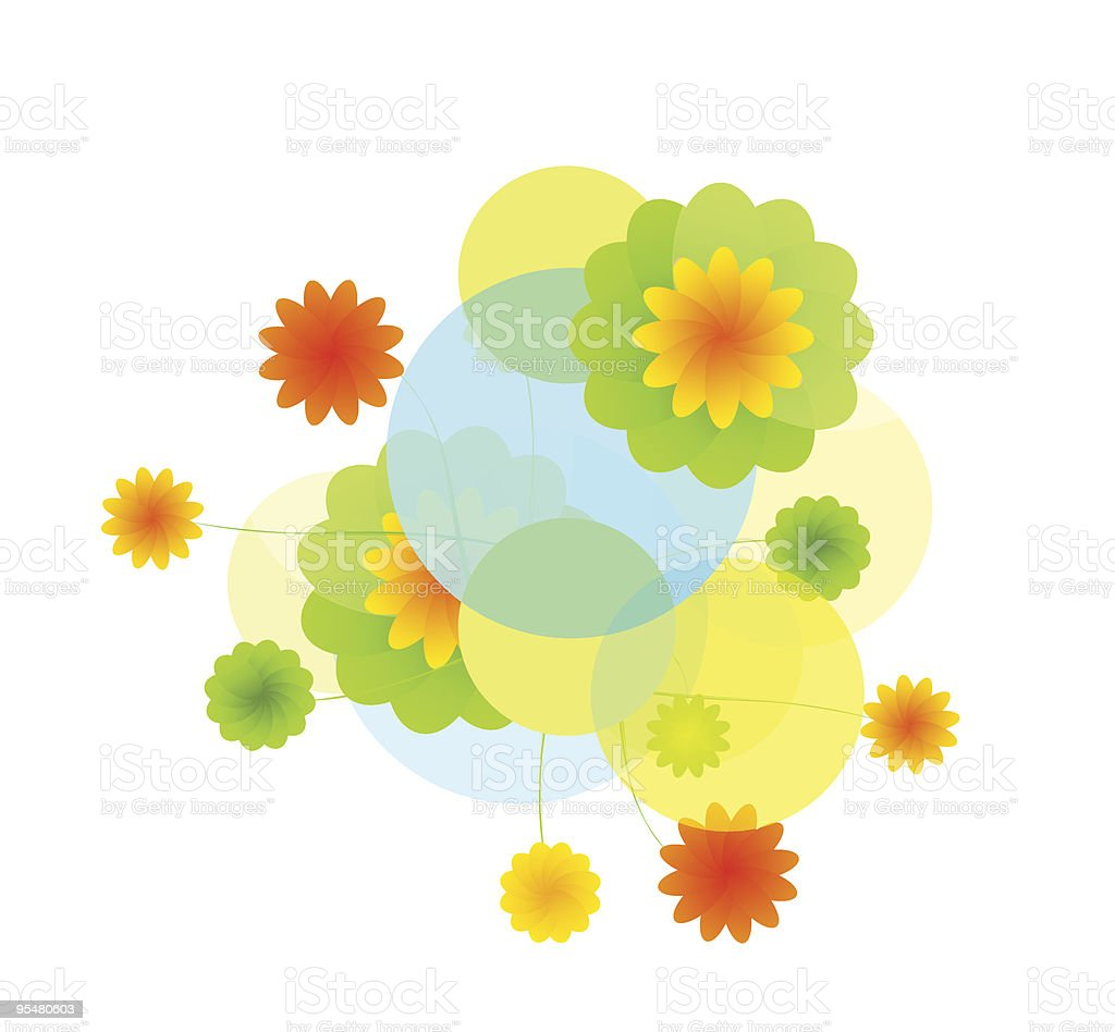 Pretty colourful background royalty-free stock vector art
