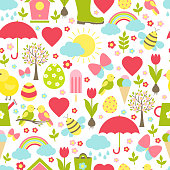 Pretty delicate seamless spring pattern