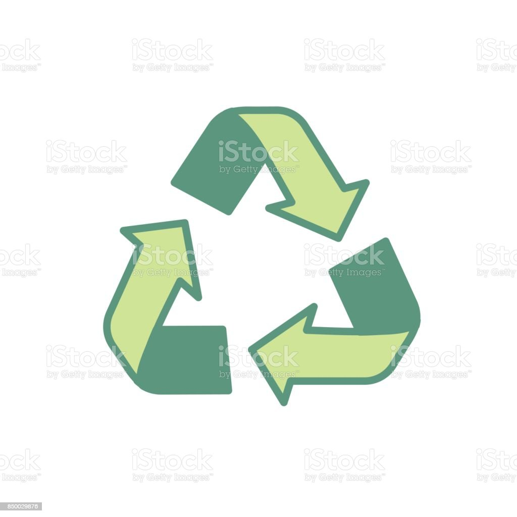 Pretty Environment Symbol To Recycle Reduce And Reuse Stock Vector