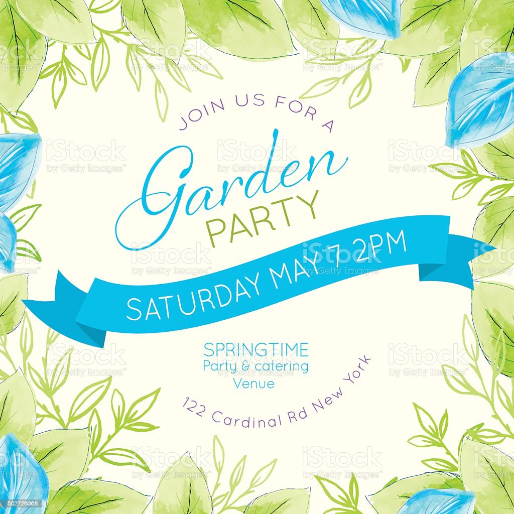 Invitation Party Wedding Free Vector Graphic On Pixabay: Pretty Feminine Watercolor Flowers Garden Party Invitation