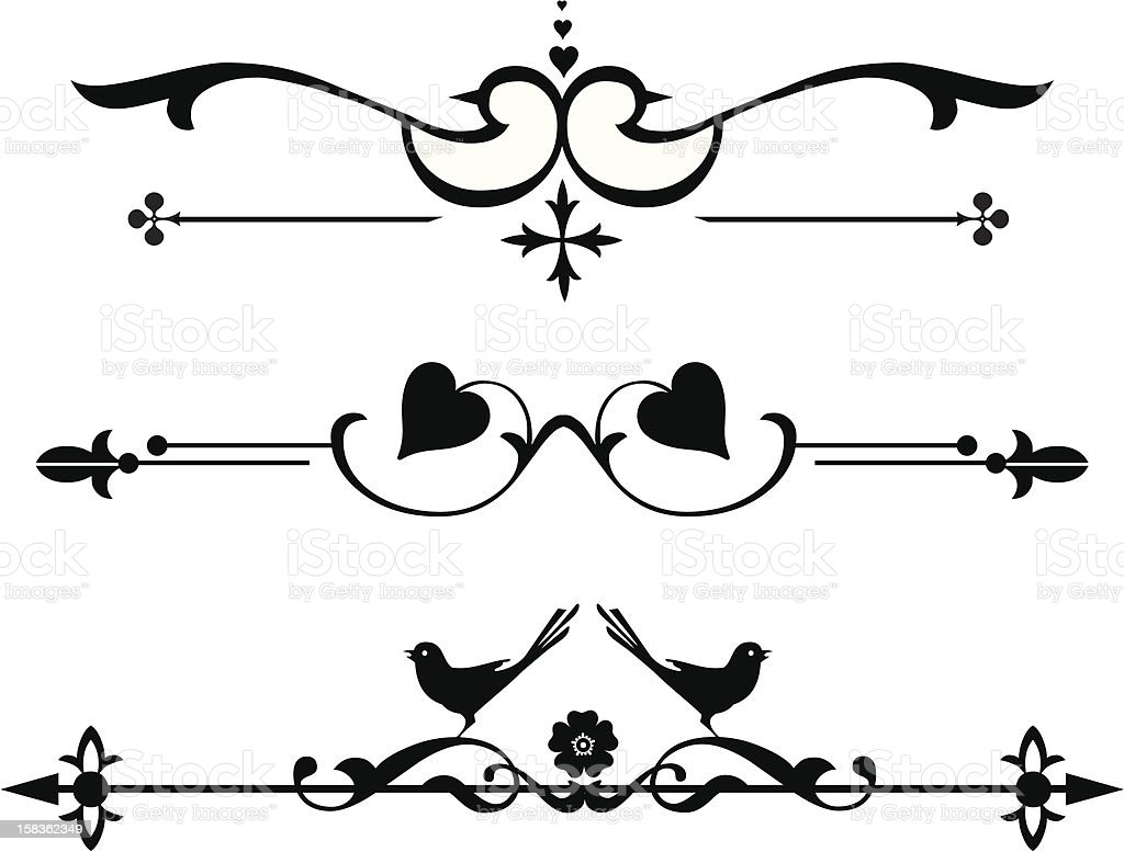 Pretty floral decoration royalty-free pretty floral decoration stock vector art & more images of angle