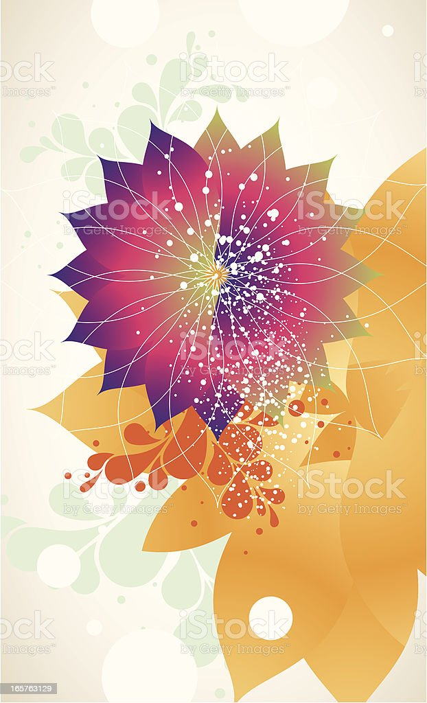 Pretty Flower Background Stock Vector Art More Images Of Abstract