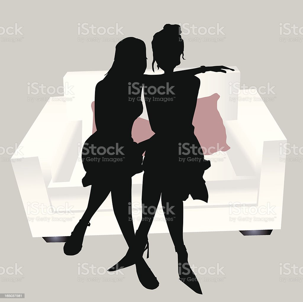 Pretty Friends Silhouette royalty-free pretty friends silhouette stock vector art & more images of adolescence