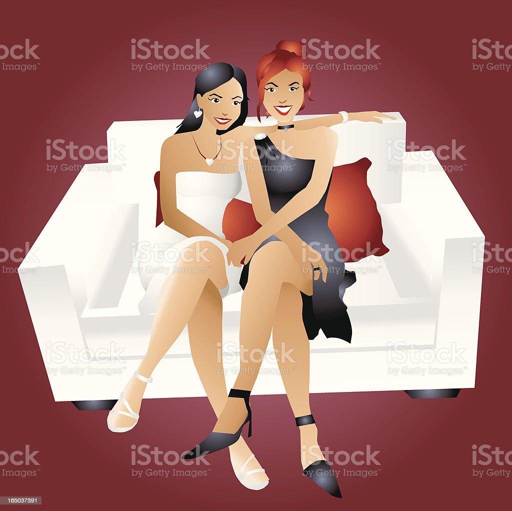 Jolie amis - Illustration vectorielle