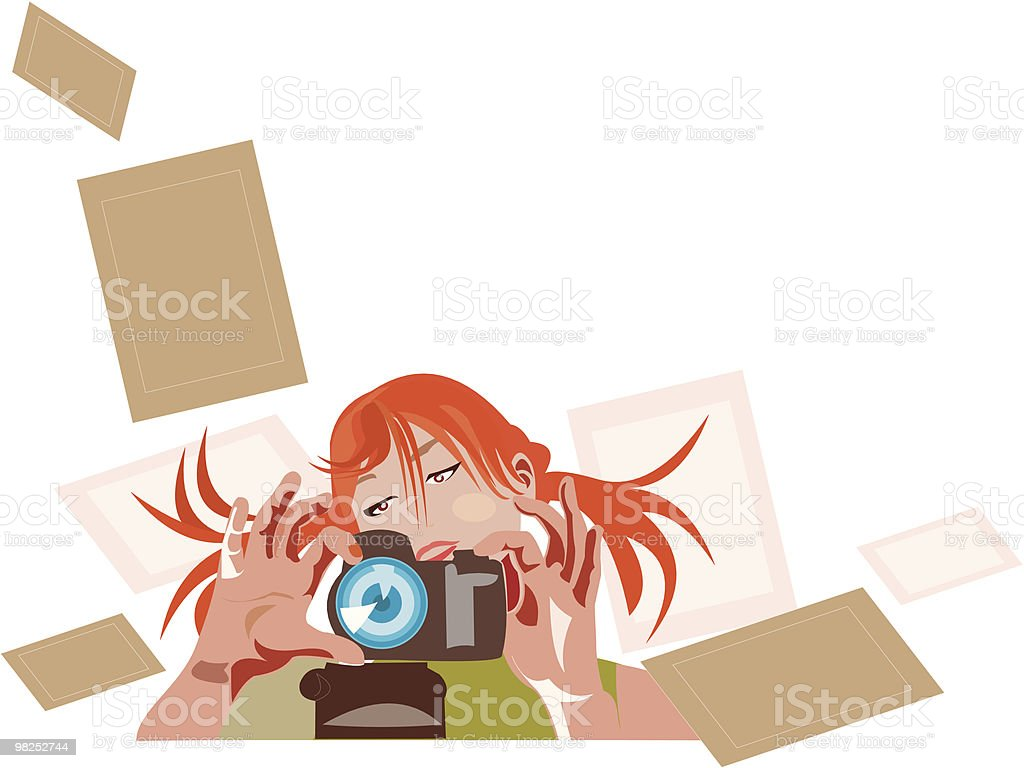 pretty photographer 3 royalty-free pretty photographer 3 stock vector art & more images of abstract