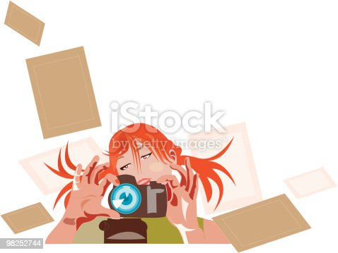 Pretty Photographer 3 Stock Vector Art & More Images of Abstract 98252744
