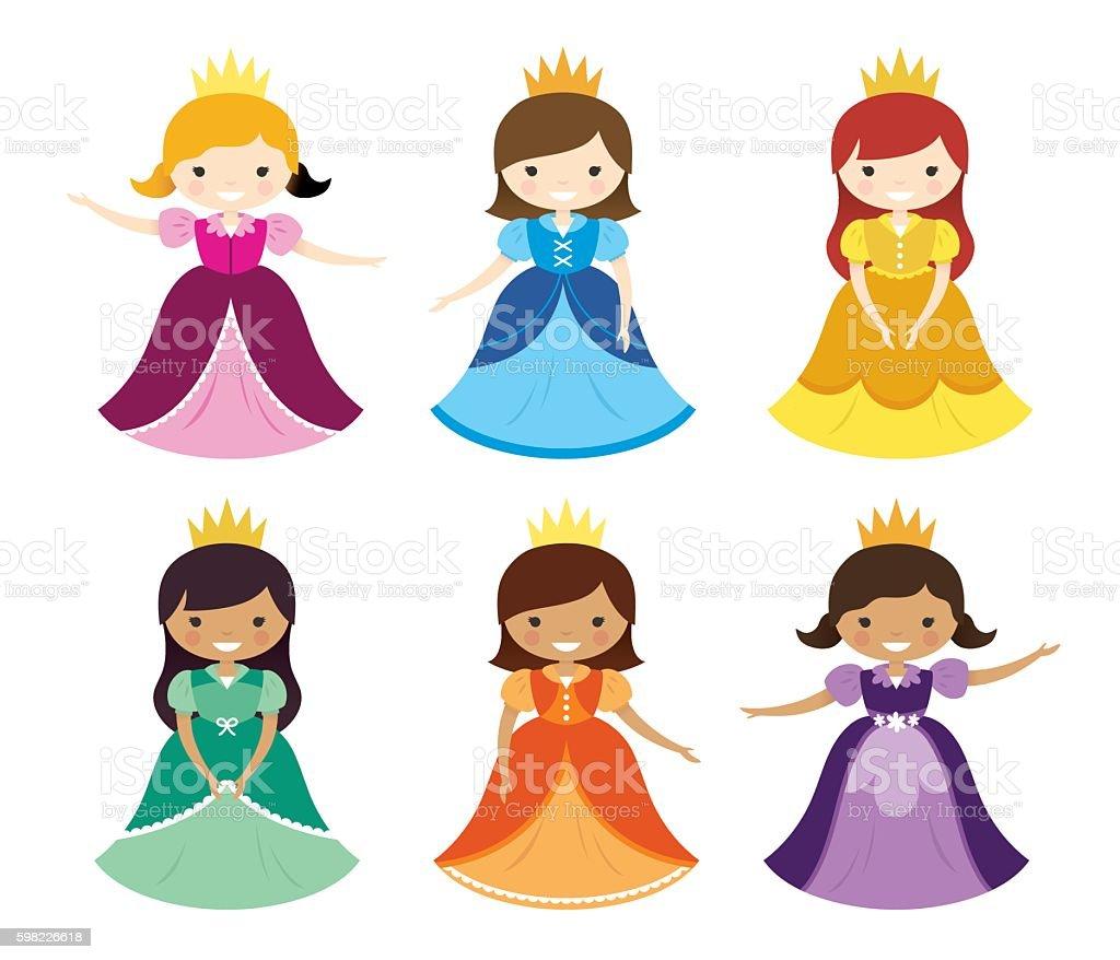 Pretty Pretty Princesses vector art illustration