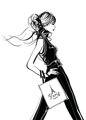 Pretty Woman shopping in Paris