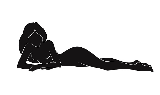 Pretty woman silhouette