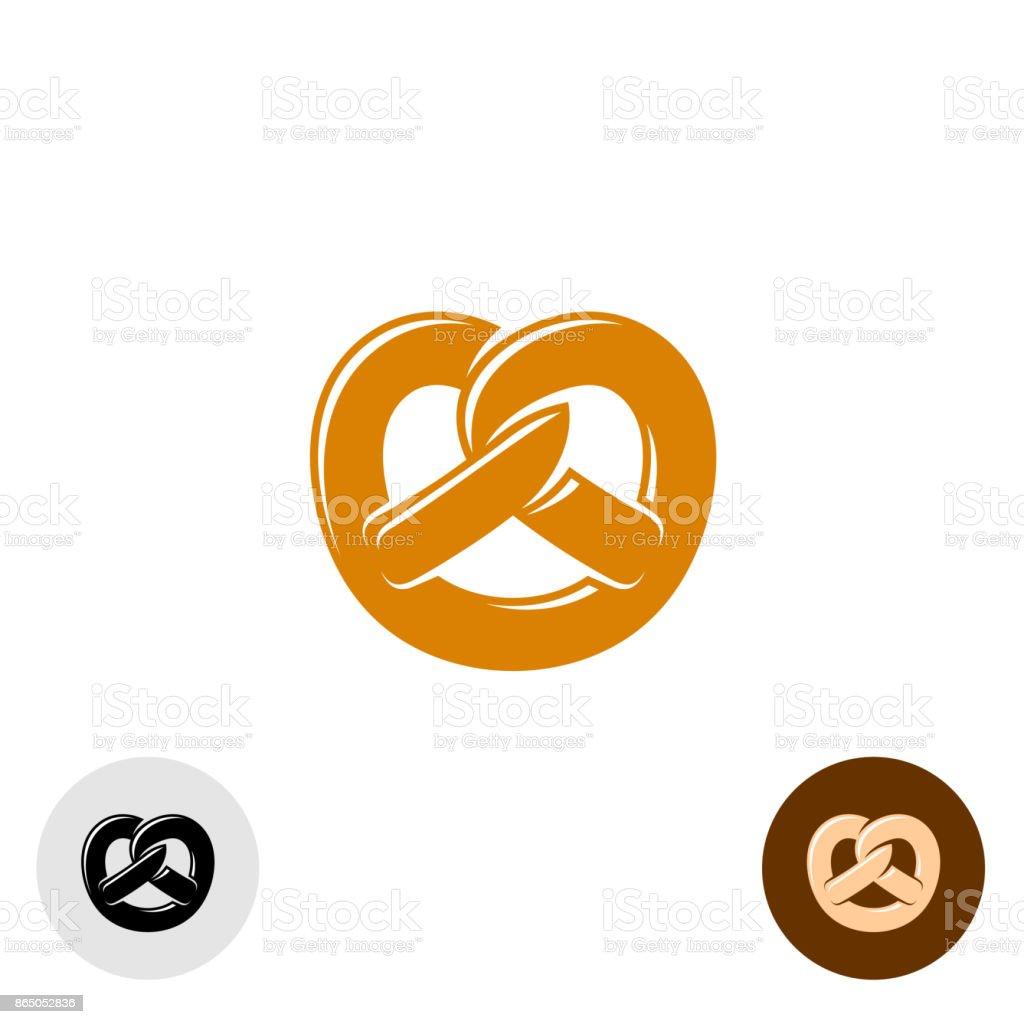 Brezel-Bäckerei-symbol – Vektorgrafik