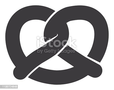 Vector of Pretzel Icon - Bakery