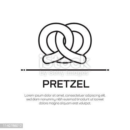 Pretzel Vector Line Icon - Simple Thin Line Icon, Premium Quality Design Element