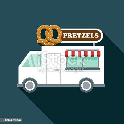 istock Pretzels Food Truck Icon 1186394600