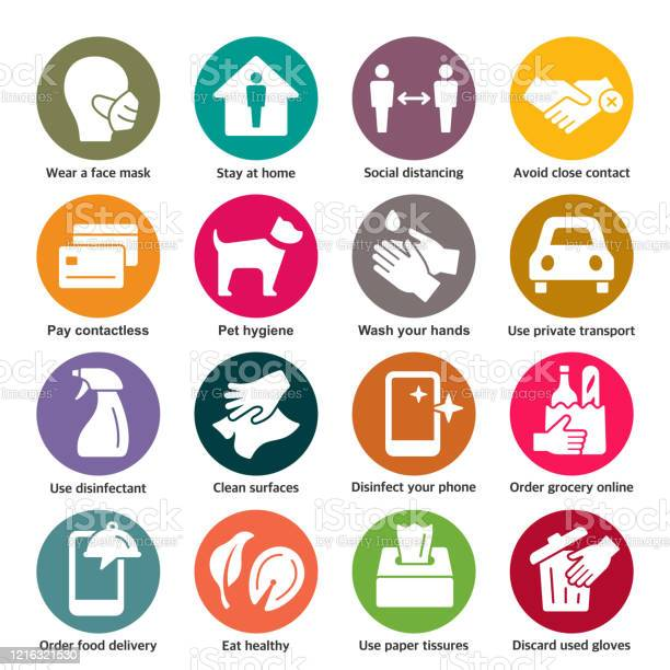 Covid19 Prevention Vector Icons Stock Illustration - Download Image Now