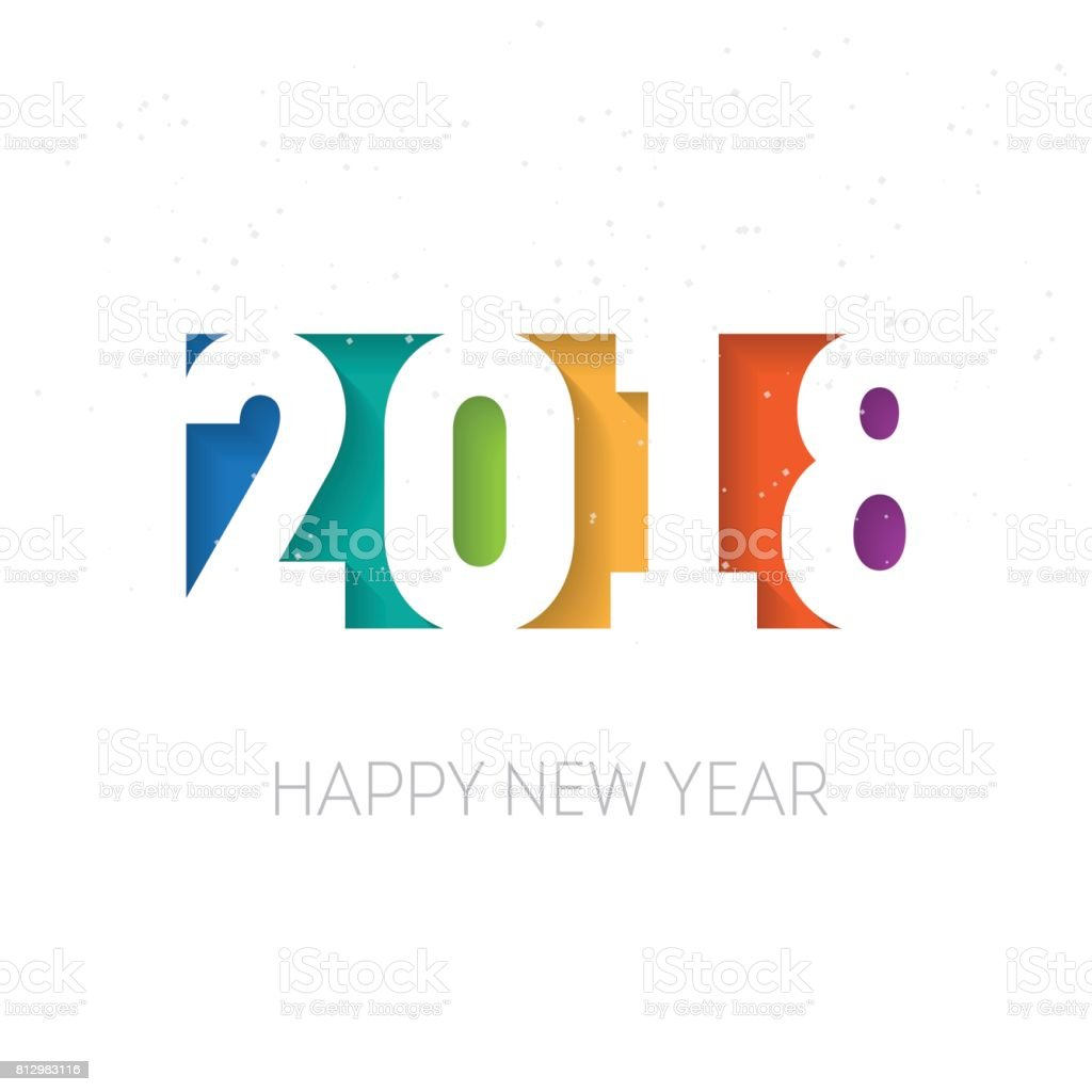 PrHappy new year 2018 vector background. Vector brochure design template. Cover of business diary for 2018 with wishes.int