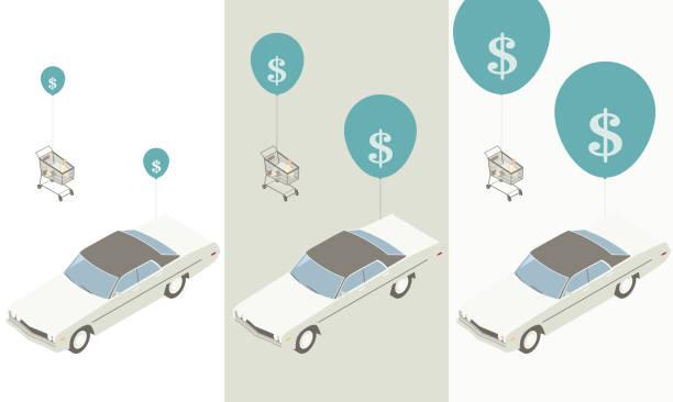 Price inflation illustration vector art illustration