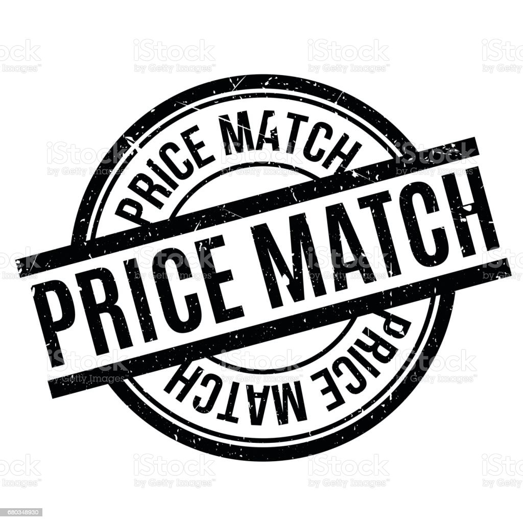 Price Match rubber stamp vector art illustration