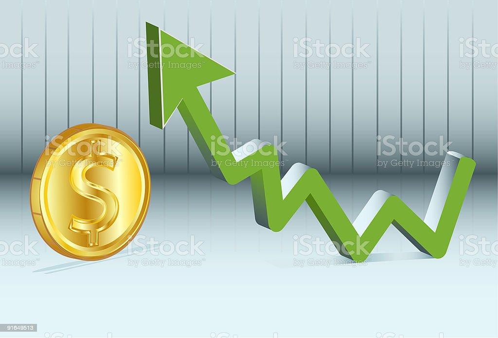 price of money vector art illustration