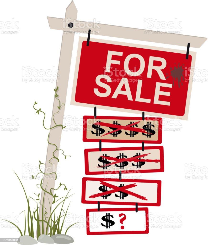 Price reduced vector art illustration