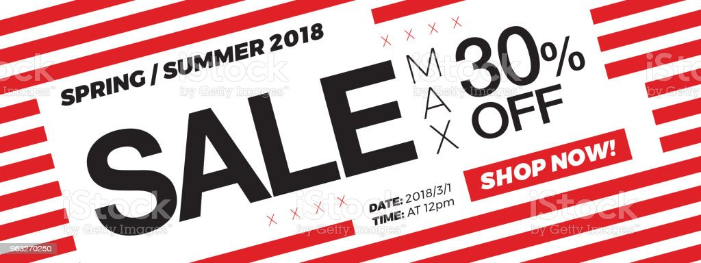 30 Off Price Sale Promotion Campaign Web Banner Or Newsletter Design
