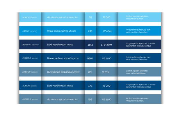 Preis Tabelle, Vorlage, Preisgestaltung Banner, chart. Infografik-Element. Vektor. – Vektorgrafik