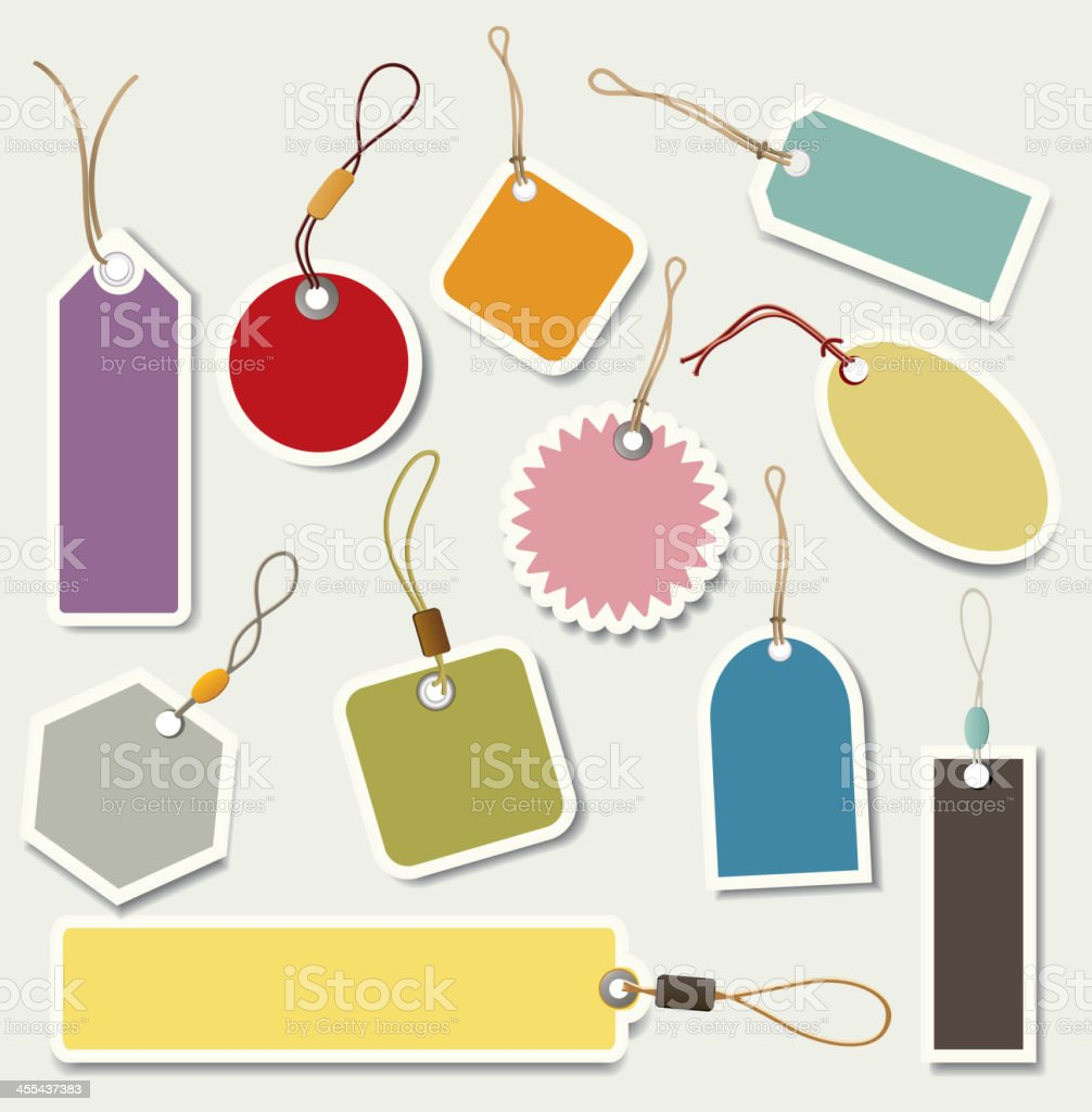 Price tag collection vector art illustration