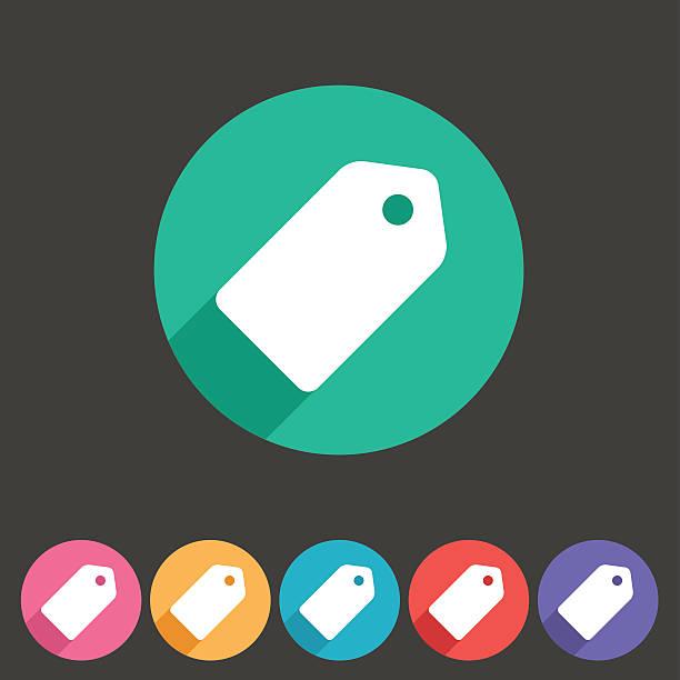 Price tag flat icon label vector art illustration