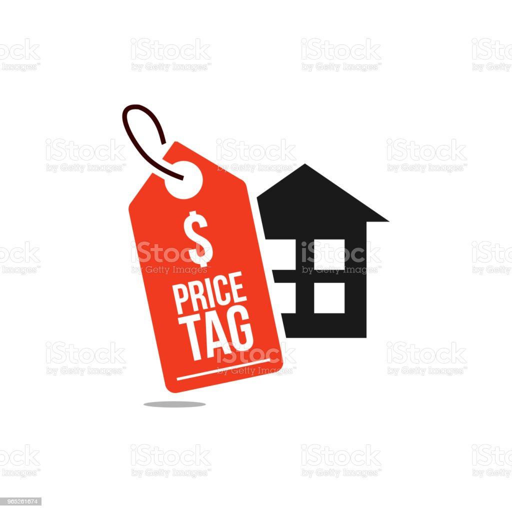 Price Tag Home Vector Template Design royalty-free price tag home vector template design stock vector art & more images of accessibility