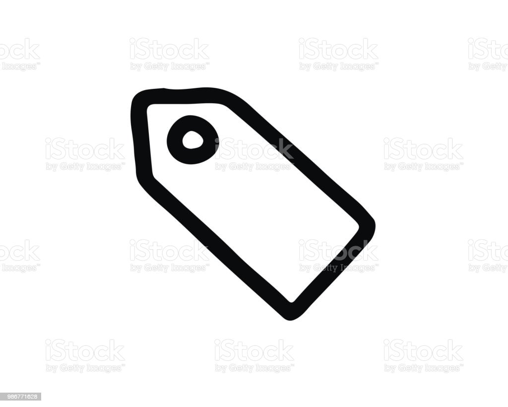 Price Tag Icon Design Illustrationhand Drawn Style Design Stock