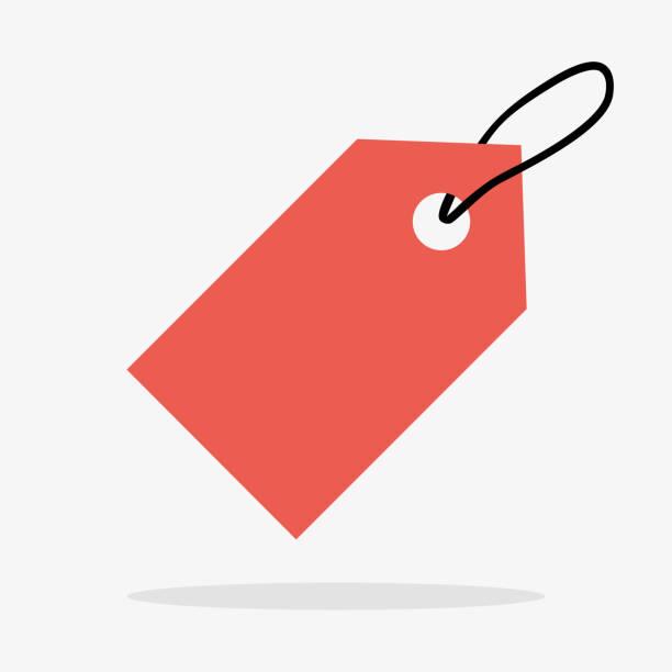 Price Tag Icon in Vector Label. Price Tag Icon in Vector consumerism stock illustrations