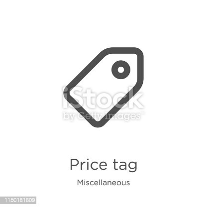 price tag icon. Element of miscellaneous collection for mobile concept and web apps icon. Outline, thin line price tag icon for website design and mobile, app development