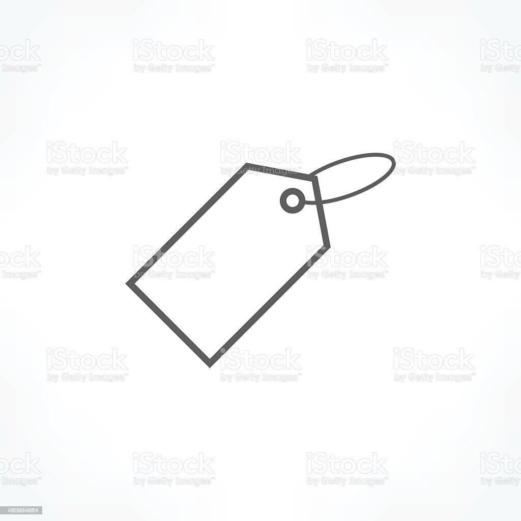 price tag icon vector art illustration
