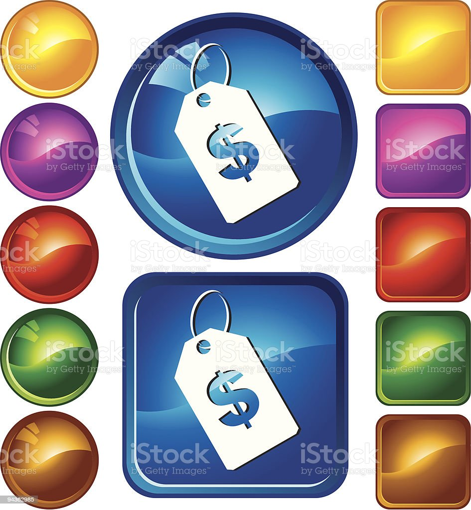 Price Tag Icons royalty-free stock vector art