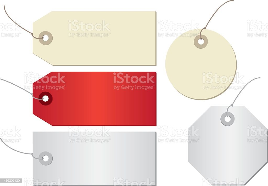 price tag isolated on white background vector art illustration