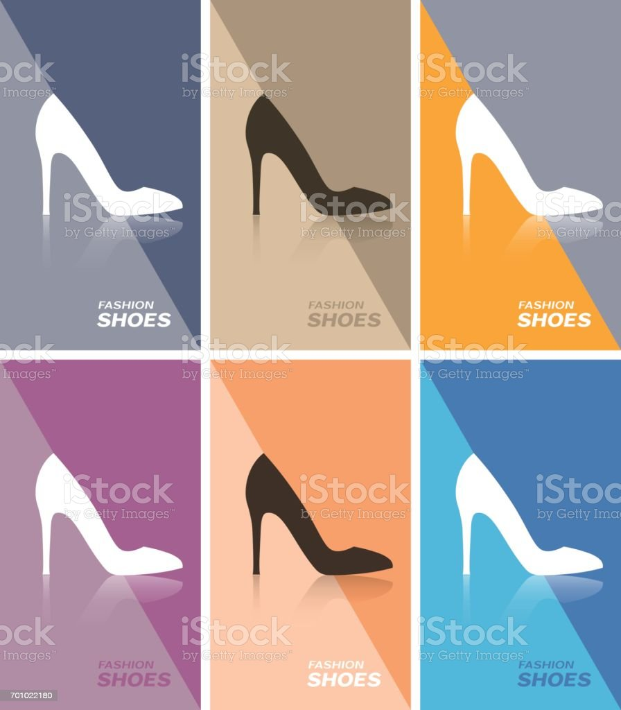 Well-known Price Tag Or Web Banner Or Business Card With Spike Heels Shoe  JT58