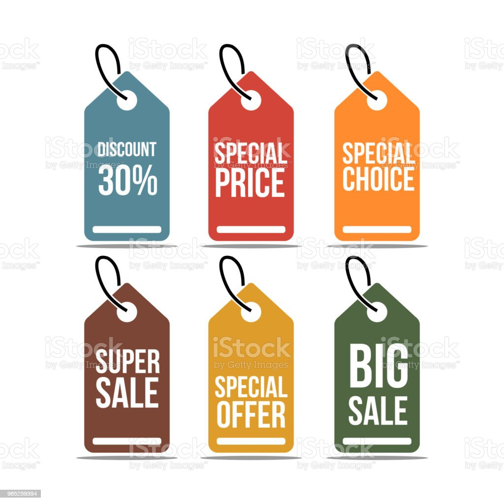 price tag set vector template design stock vector art more images