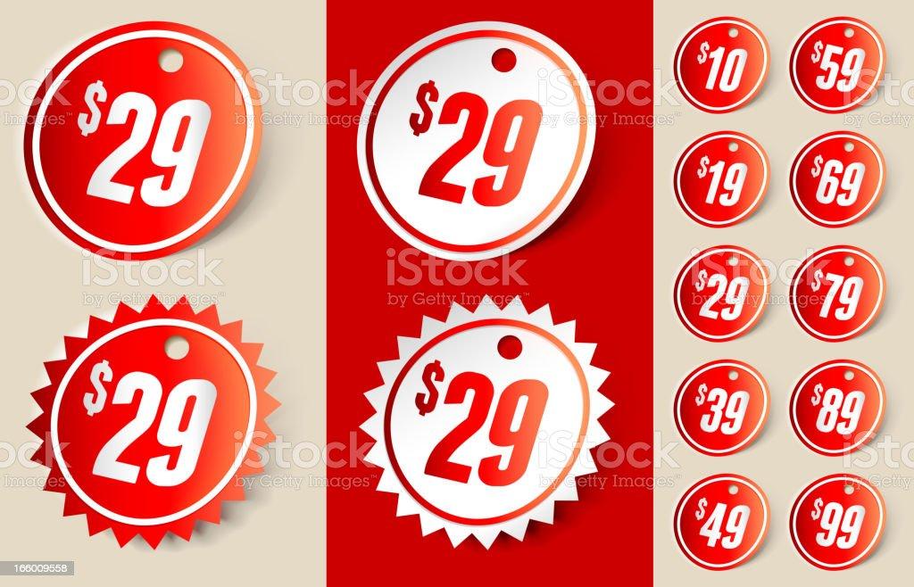 Price Tag Sign Ribbon royalty-free stock vector art