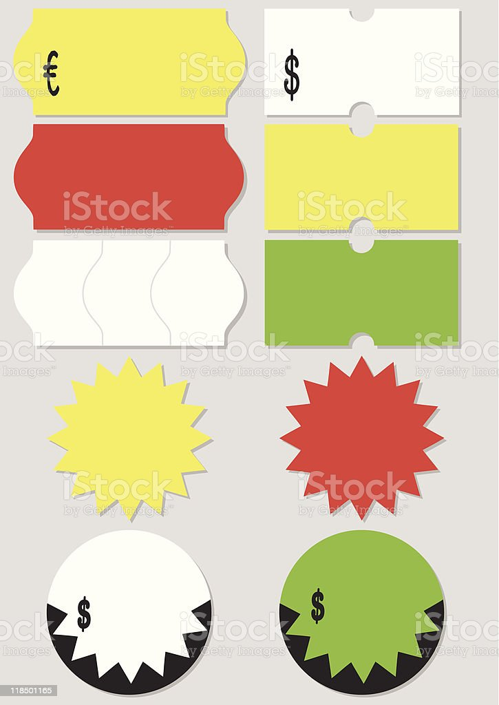 Price tag vector illustration set vector art illustration